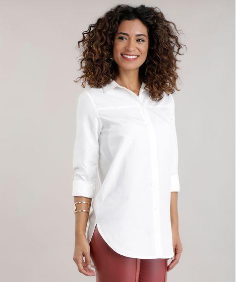 24c532188f Camisa-Longa-Branca-8598504-Branco 1 ...
