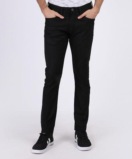 Calca-Jeans-Masculina-Slim-com-Bolsos-Preta-9942091-Preto_1