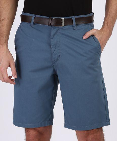 Bermuda-Masculina-Reta-Com-Bolsos-e-Cinto-Azul-Escuro-9955466-Azul_Escuro_1