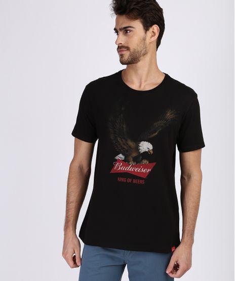 Camiseta-masculina--Budweiser--Manga-Curta-Gola-Careca-Preta-9956769-Preto_1