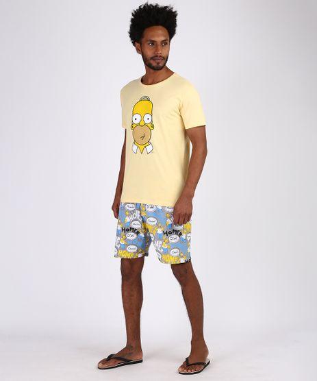 Pijama Simpsons Homer Simpsons Masculino Manga Curta