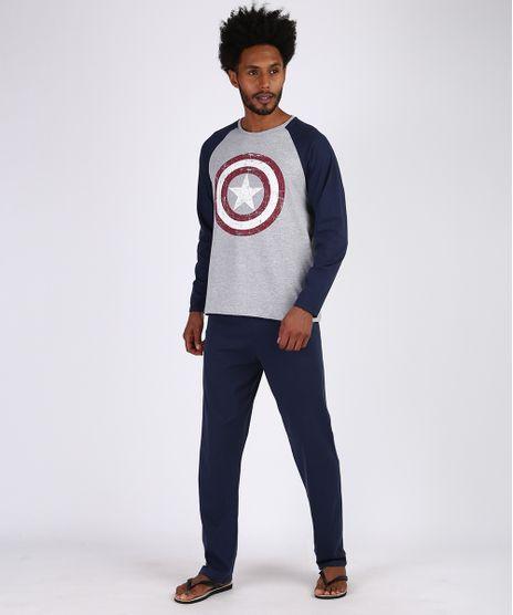 Pijama-Masculino-Capitao-America-Raglan-Manga-longa-Azul-Marinho-9953934-Azul_Marinho_1