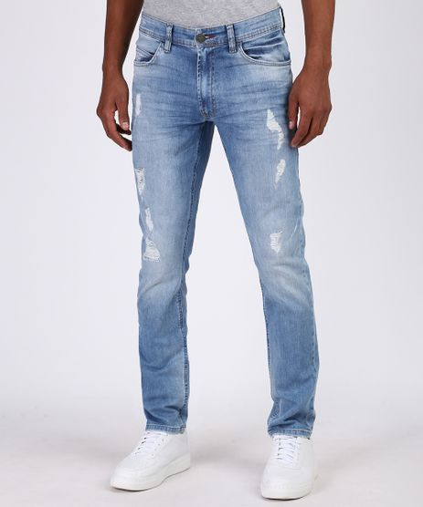 Calca-Jeans-Masculina-Slim-Destroyed--Azul-Claro-9950014-Azul_Claro_1
