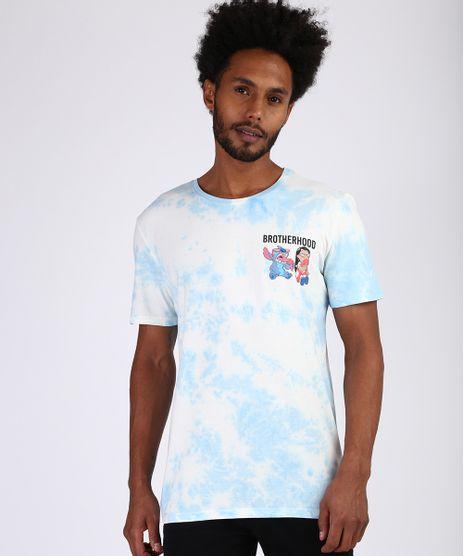Camiseta-Masculina-Tie-Dye-Lilo-E-Stitch-Manga-Curta-Gola-Careca-Azul-9953426-Azul_1