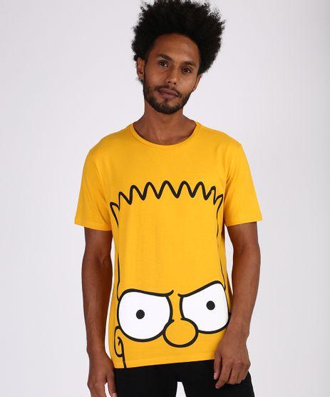 Camiseta-Masculina-Bart-Simpson-Manga-Curta-Gola-Careca-Amarela-9955591-Amarelo_1