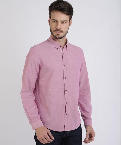 Camisa-Masculina-Comfort-Manga-Longa-Rosa-Escuro-9523389-Rosa_Escuro_1