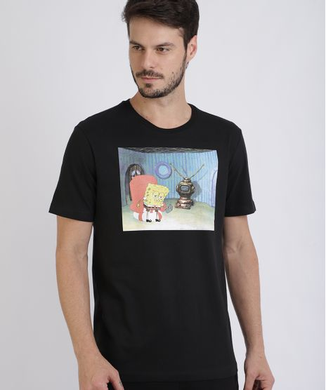 Camiseta-Masculina-Bob-Esponja-Manga-Curta-Gola-Careca-Preta-9955430-Preto_1
