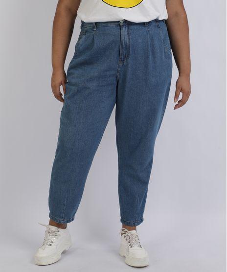 Calca-Jeans-Feminina-Mindset-Plus-Size-Mom-Cintura-Alta-com-Bolsos-Azul-Medio-9956658-Azul_Medio_1