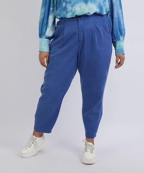 Calca-Feminina-Mindset-Plus-Size-Mom-Alfaiatada-Cintura-Alta-com-Bolsos-Azul-9957643-Azul_1