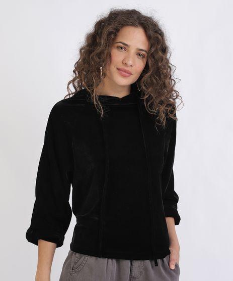 Blusao-de-Veludo-Feminino-Gestante-com-Capuz-Preto-9956015-Preto_1