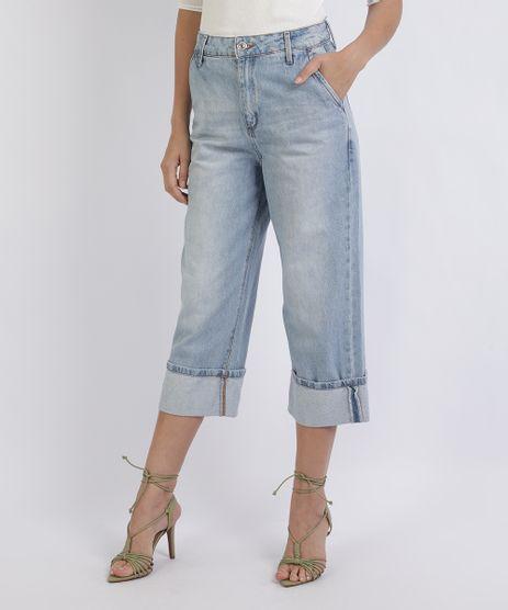 Calca-Jeans-Feminina-Pantacourt-com-Barra-Dobrada-Azul-Claro-9951738-Azul_Claro_1