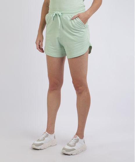 Short-de-Moletom-Feminino-Mindset-Cos-com-Cadarco-e-Bolsos-Verde-Claro-9958842-Verde_Claro_1