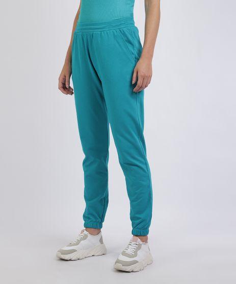 Calca-de-Moletom-Feminina-Mindset-Jogger-Cintura-Media-com-Bolsos-Azul-9957123-Azul_1