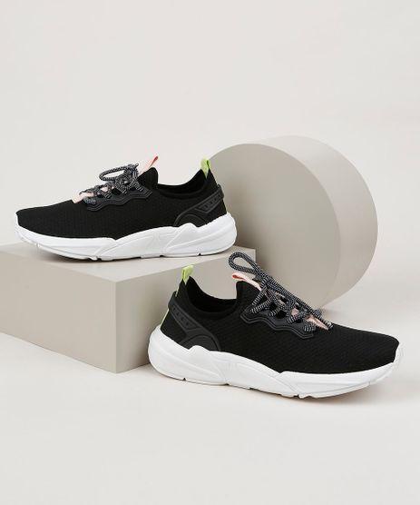 Tenis-em-Neoprene-Feminino-Oneself-Sneaker-Chunky--Preto-9955247-Preto_1