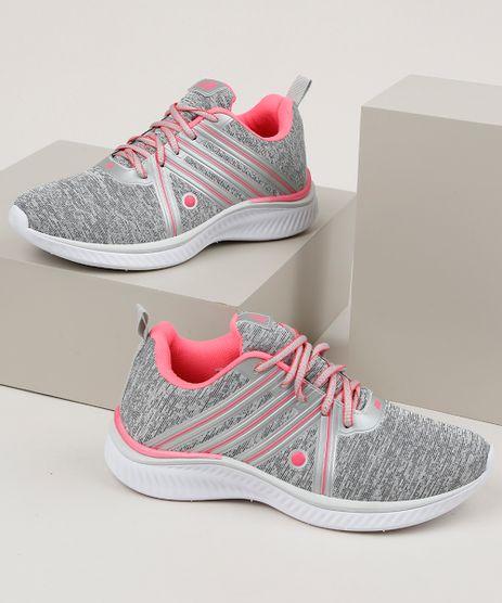 Tenis-Feminino-Esportivo-Ace-com-Recortes-em-Cores-Contrastantes-Cinza-Mescla-9954080-Cinza_Mescla_1