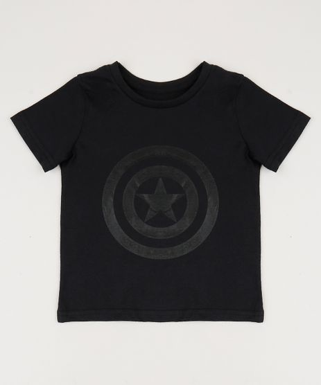 Camiseta-Infantil-Tal-Pai-Tal-Filho-Capitao-America-Manga-Curta-Gola-Careca-Preta-9953513-Preto_1