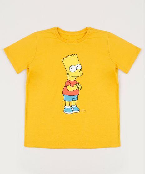Camiseta-Infantil-Tal-Pai-Tal-Filho-Bart-Simpsons-Manga-Curta-Gola-Careca-Amarela-9955051-Amarelo_1