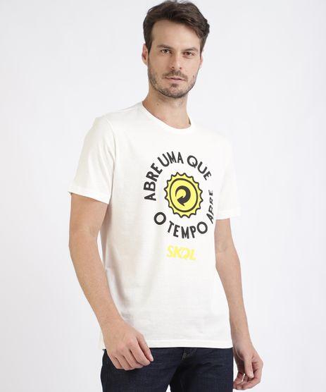 Camiseta-Masculina--Skol-Abre-uma-que-----Manga-Curta-Gola-Careca-Branca-9956473-Branco_1