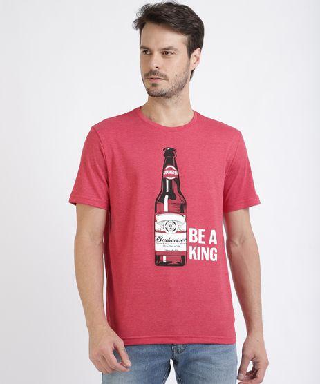 Camiseta-Masculina--Budweiser-Be-a-King--Manga-Curta-Gola-Careca-Vermelha-9956464-Vermelho_1