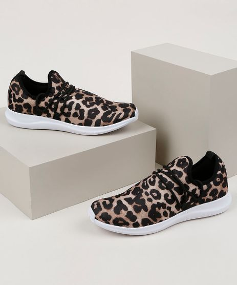 Tenis-Feminino-Oneself-Knit-Estampado-Animal-Print-de-Onca-Bege-9958846-Bege_1