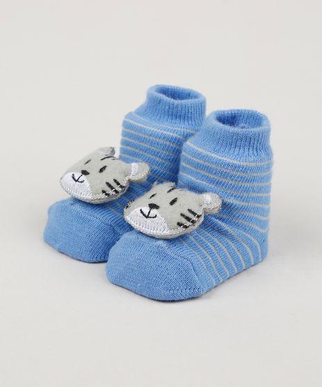 Meia-Infantil-Listrada-Cano-Medio-com-Patch-Gatinho-Azul-Claro-9954290-Azul_Claro_1