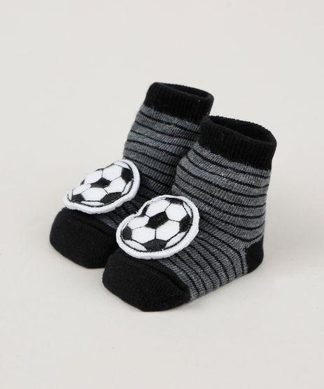 Meia-Infantil-Listrada-Cano-Medio-com-Patch-Bola-de-Futebol-Preta-9954292-Preto_1