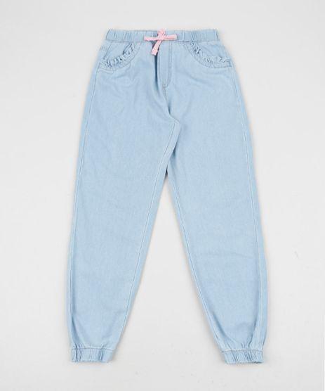 Calca-Jeans-Infantil-Pijama-Jogger-com-Cordao-Azul-Claro-9954367-Azul_Claro_1