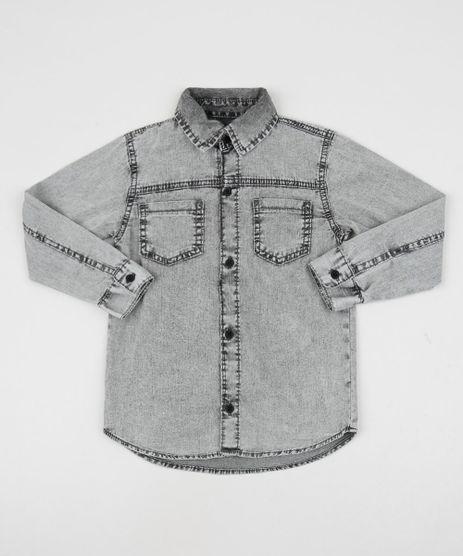 Camisa-Jeans-Infantil-com-Bolsos-Preta-9947437-Preto_1