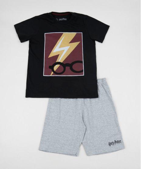 Pijama-Juvenil-Harry-Potter-Manga-Curta-Preto-9955484-Preto_1