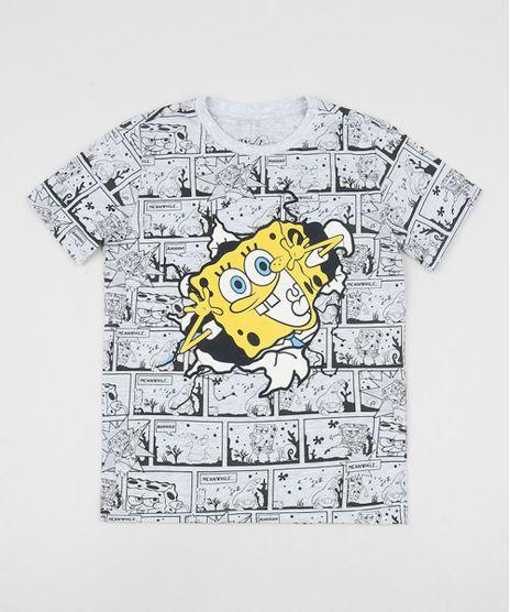 Camiseta-Infantil-Bob-Esponja-Estampada-Manga-Curta-Gola-Careca-Cinza-Mescla-9955542-Cinza_Mescla_1