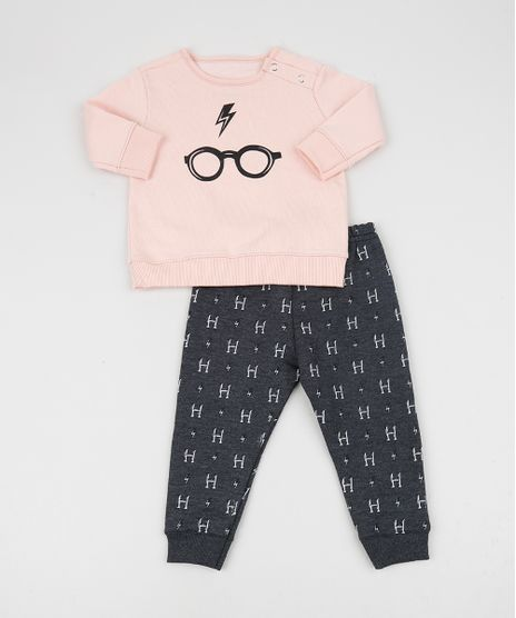 Conjunto-Infantil-em-Moletom-Harry-Potter-de-Blusao-Rosa-Claro---Calca-Estampada-Cinza-Mescla-Escuro-9956073-Cinza_Mescla_Escuro_1