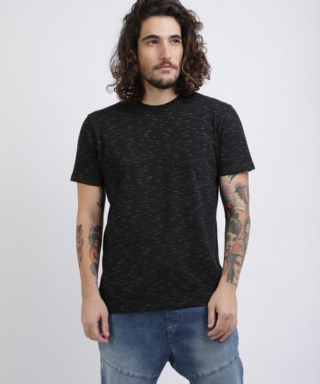 Camiseta-Unissex-Basica-com-Bolso-Manga-Curta-Gola-Careca-Preta-9286099-Preto_1