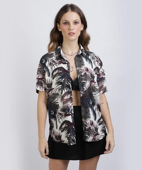 Camisa-Unissex-Slim-Estampada-de-Coqueiros-Manga-Curta--Off-White-9954275-Off_White_1