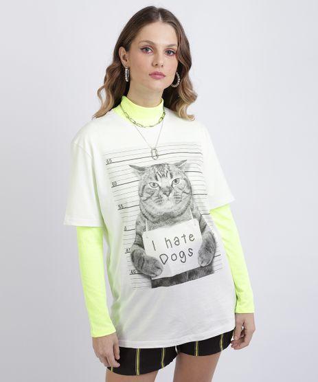 Camiseta-Unissex-Gato--I-Hate-Dogs--Manga-Curta-Gola-Careca-Branca-9956858-Branco_1