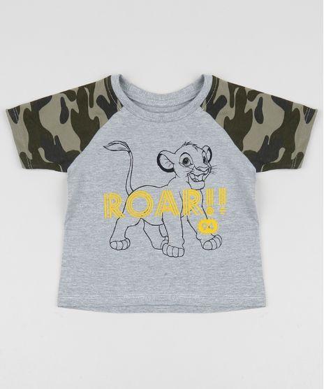 Camiseta-Infantil-Simba-o-Rei-Leao-Raglan-Manga-Curta-Camuflada-Cinza-9957869-Cinza_1
