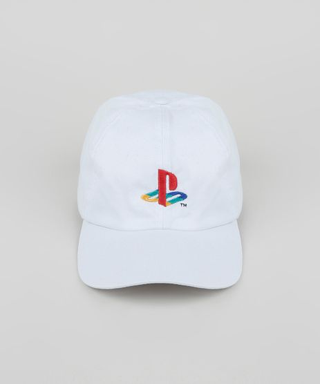 Bone-Masculino-Aba-Curva-com-Bordado-Playstation-Branco-9946704-Branco_1