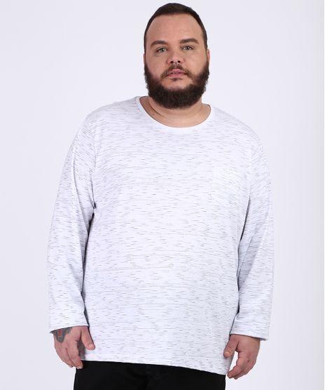 Camiseta-Masculina-Plus-Size-Basica-com-Bolso-Manga-Longa-Gola-Careca-Branca-9954909-Branco_1