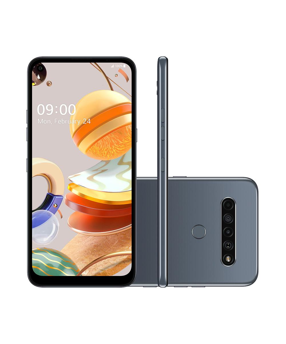 Smartphone LG LMQ630BAW K61 128GB Titânio