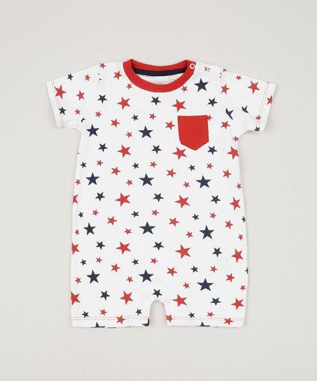 Macaquinho-Infantil-Estampado-de-Estrelas-Manga-Curta-Branco-9951492-Branco_1