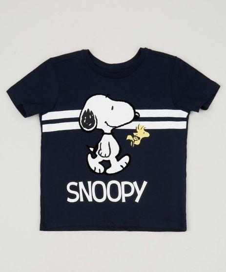 Camiseta-Infantil-Snoopy-Manga-Curta-Azul-Marinho-9953259-Azul_Marinho_1