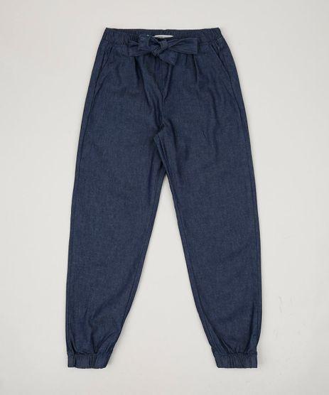 Calca-Jeans-Infantil-Jogger-com-Bolsos-Azul-Medio-9957785-Azul_Medio_1