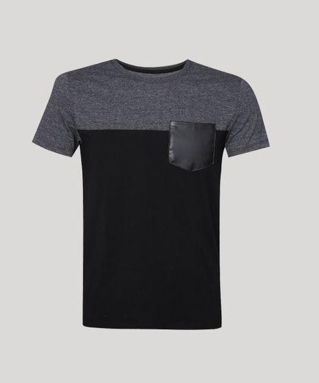 Camiseta-Masculina-com-Bolso-e-Recorte-Manga-Curta-Gola-Careca-Cinza-9941999-Cinza_1