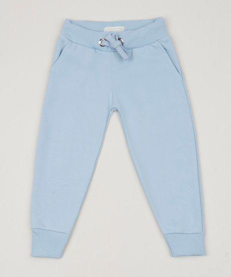 Calca-de-Moletom-Infantil-com-Bolsos-Azul-Claro-9957868-Azul_Claro_1