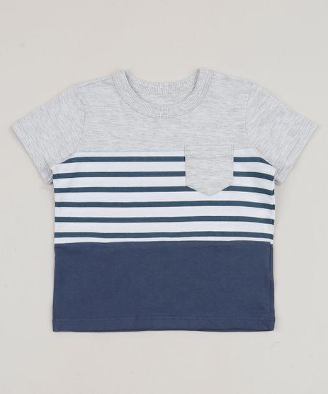 Camiseta-Infantil-Listrada-com-Bolso-Manga-Curta-Cinza-Mescla-Claro-9945690-Cinza_Mescla_Claro_1