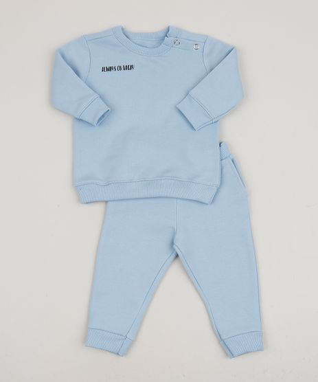 Conjunto-Infantil-de-Blusao---Calca-de-Moletom-Azul-Claro-9958614-Azul_Claro_1