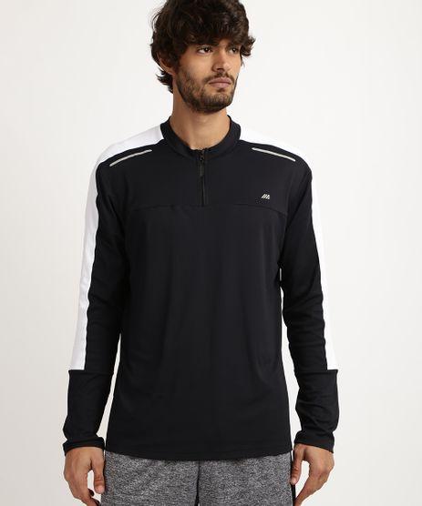 Camiseta-Masculina-Esporte-Ace-com-Refletivo-e-Meio-Ziper-Manga-Longa-e-Gola-Careca--Preta-9958502-Preto_1