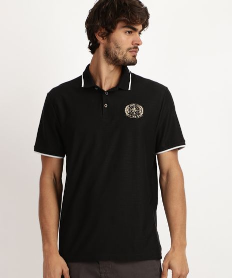 Camiseta-Masculina-Bordado-Frontal-de-Brasao-Manga-Curta-Preta-9942891-Preto_1