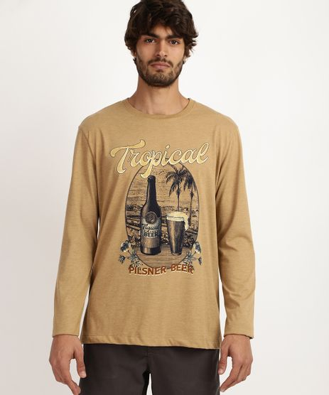 Camiseta-Masculina-Tropical-Manga-Longa-Gola-Careca-Bege-9958233-Bege_1