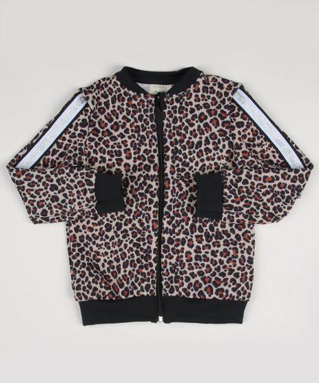 Blusao-Infantil-Estampado-Animal-Print-Onca-com-Faixa-em-Glitter-Bege-9955316-Bege_1