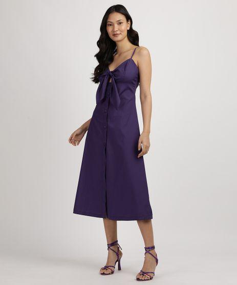 Vestido-Feminino-Midi-com-Recorte-Vazado-e-No-Alcas-Finas-Decote-V-Roxo-9959458-Roxo_1